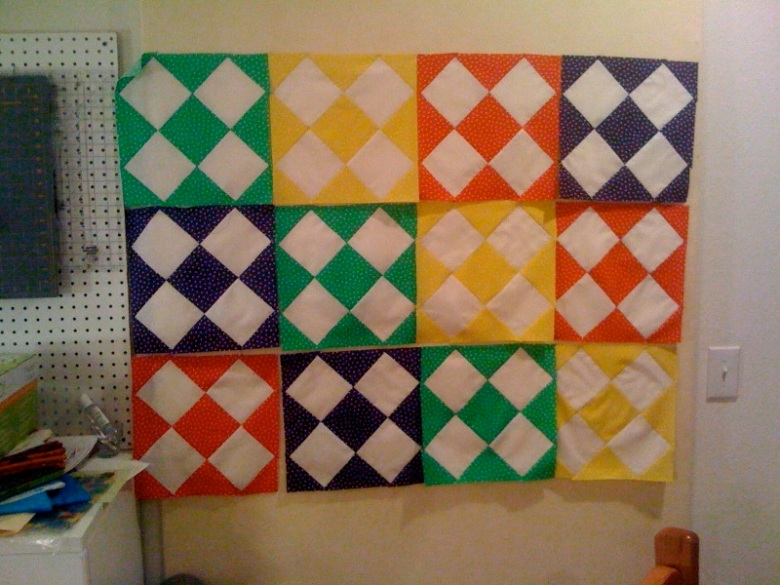 Memory Quilt from baby shower  - Final pictures to come soon!!!!