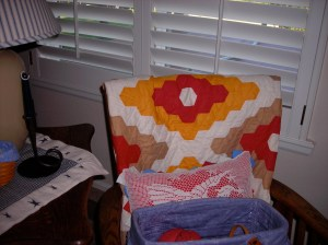 More fabulous quilts found along our tour of Sandy's home