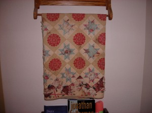 Sandy's oldest quilt.  See how it is wearing and falling apart.  Handle with care!